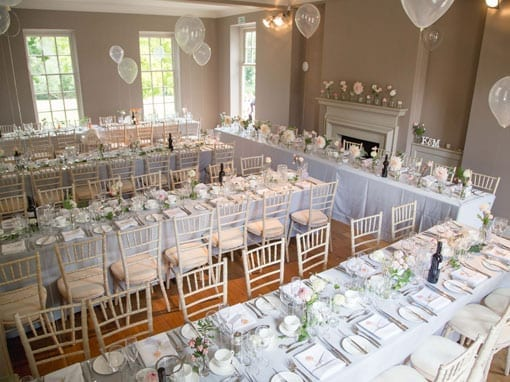 Wedding Breakfast Room Set Up