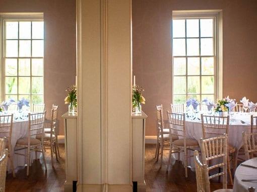 Wedding Breakfast Room Set Up