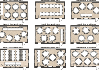 Floorplans - Seating Options