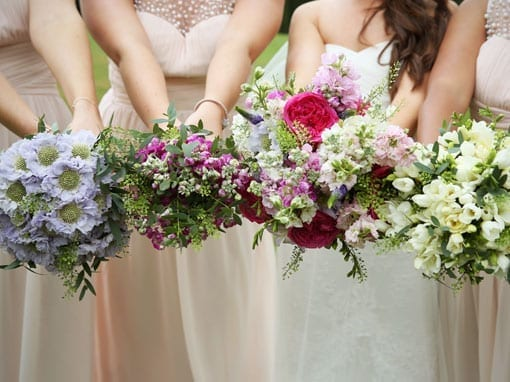 CHARLOTTE & CHRIS – BRIDESMAIDS FLOWERS
