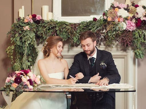 MARK AND ANASTASIA – SIGNING THE REGISTER
