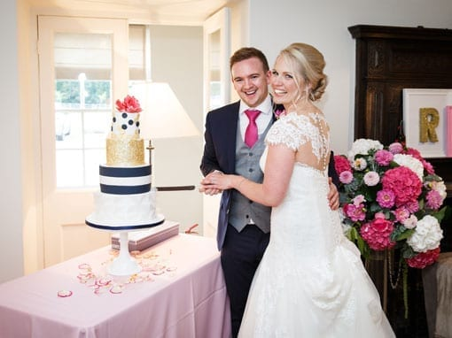 Lauren & Rob – Cutting the cake