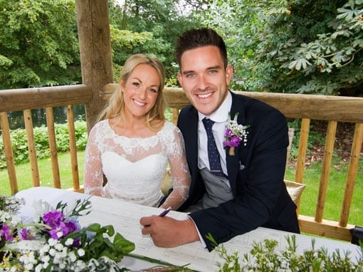 Rob & Stacey – Signing the register