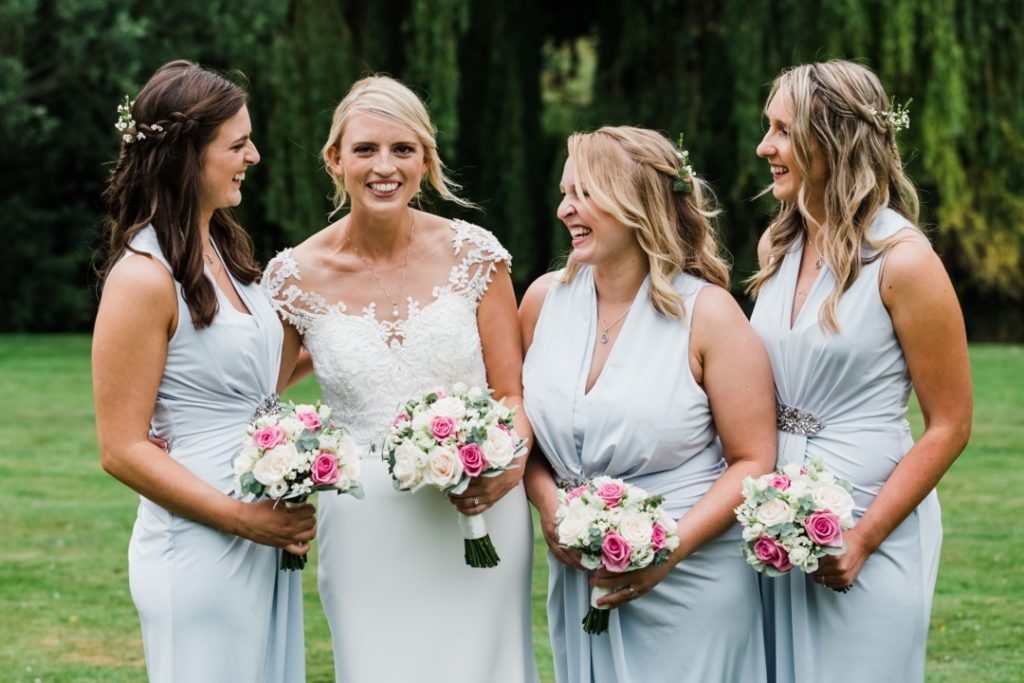 Natalie and Matt Wedding Story at That Amazing Place Essex Wedding Bridesmaids Bouquet