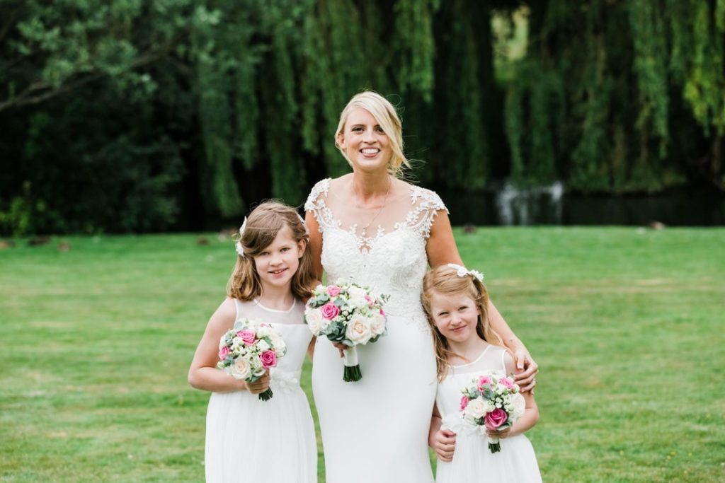 Natalie and Matt Wedding Story at That Amazing Place Essex Wedding Bridesmaids andNatalie and Matt Wedding Story at That Amazing Place Essex Wedding Bridesmaids and Flower Girls Bouquet Flower Girls Bouquet