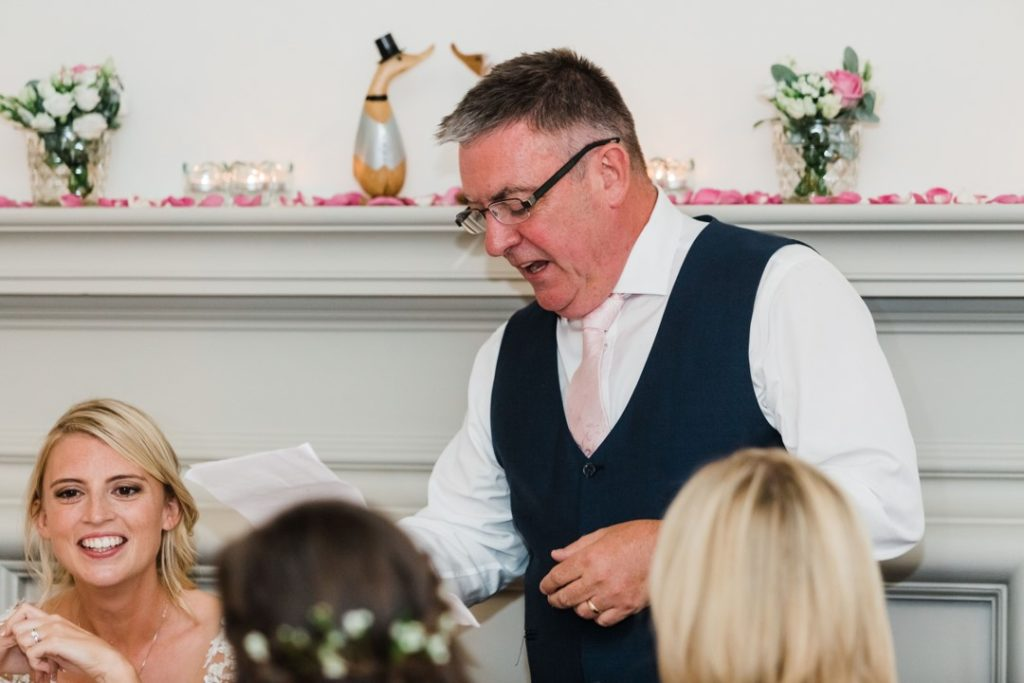 Natalie and Matt Wedding Story at That Amazing Place Essex Wedding Dads Speech