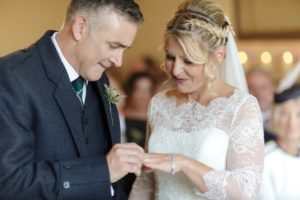 Adele and Douglas big day the ceremony at exclusive essex wedding venue That Amazing Place