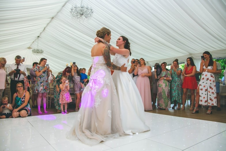 Lucy and Vicky Dream Day Wedding Stories at That Amazing Place First Dance