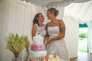Lucy and Vicky Dream Day Wedding Stories at That Amazing Place Wedding Cake